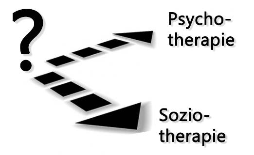 Grafik: Psychotherapie oder Soziotherapie?